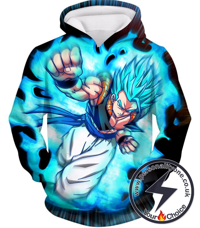 Dragon Ball Super Incredible Fusion Gogeta Super Saiyan Blue Cool Action Hoodie