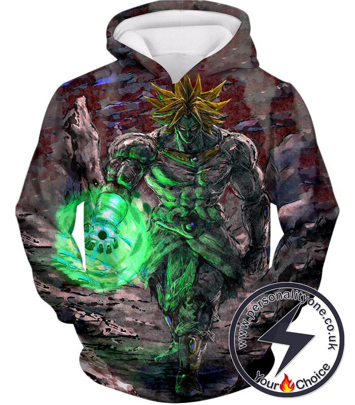 Dragon Ball Super Incredible Power Legendary Super Saiyan Broly Cool Blur Graphic Hoodie