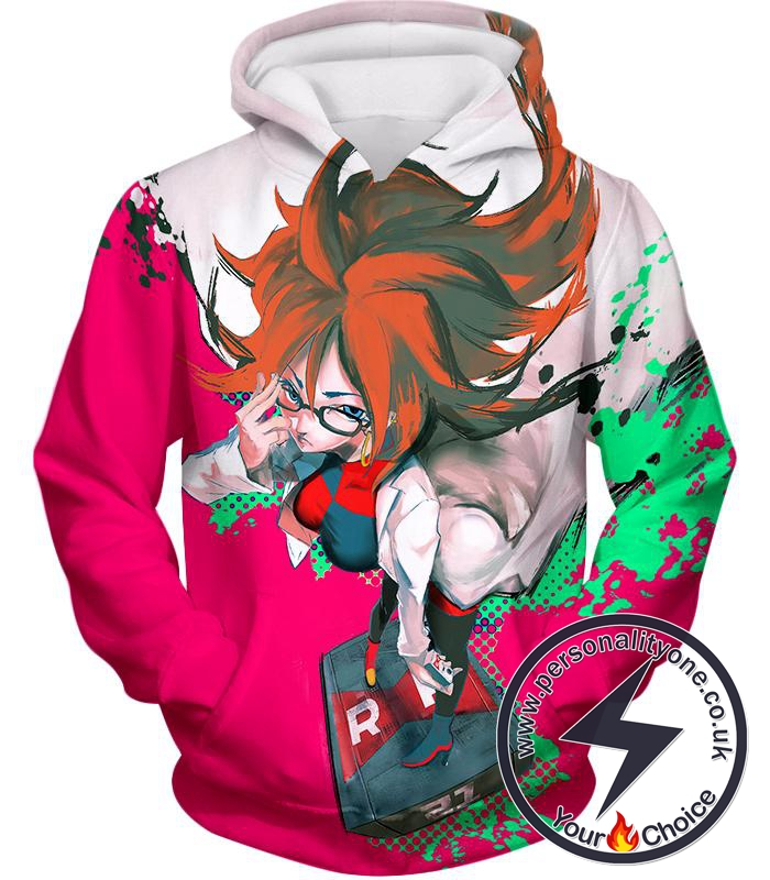 Dragon Ball Super Incredibly Intelligent Android 21 Cool Anime Promo Hoodie