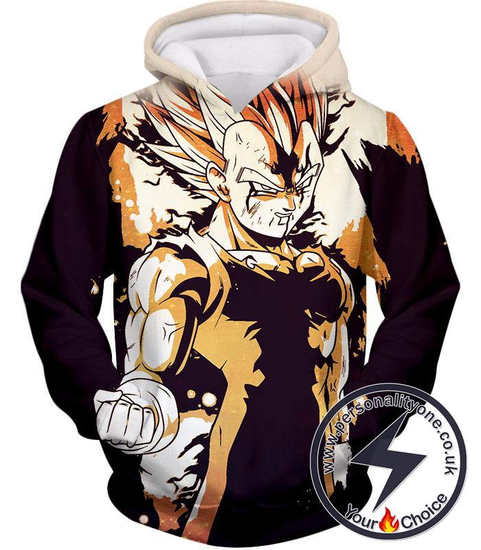 Dragon Ball Super Powerful Majin Vegeta Boosted Super Saiyan 2 Form Cool Anime Hoodie