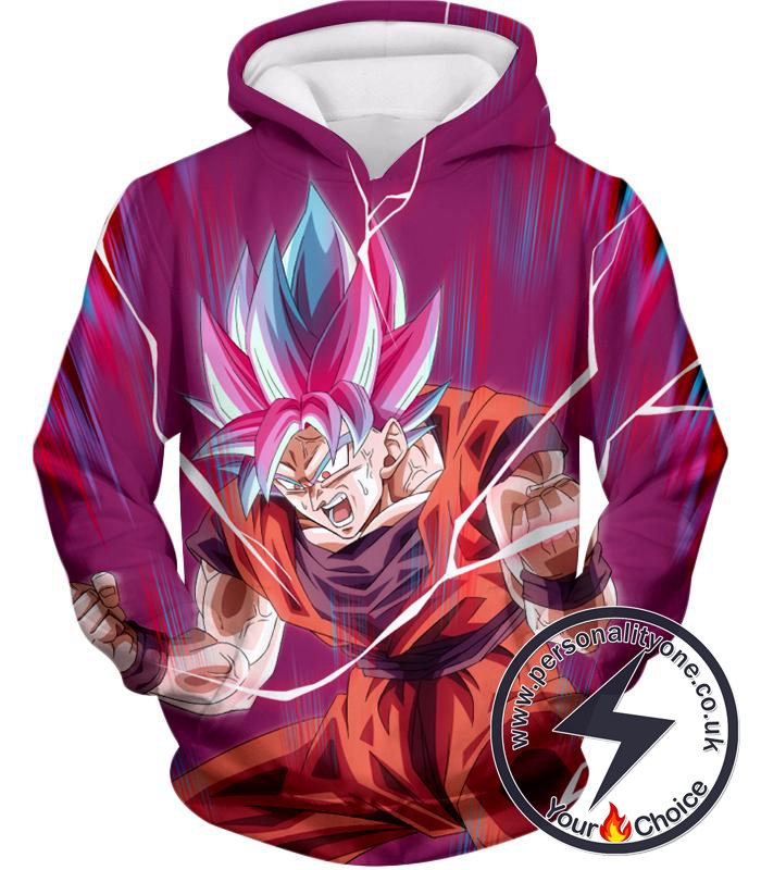 Dragon Ball Super Rising Ultimate Power Goku Super Saiyan Blue kaio-ken Incredible Action Hoodie