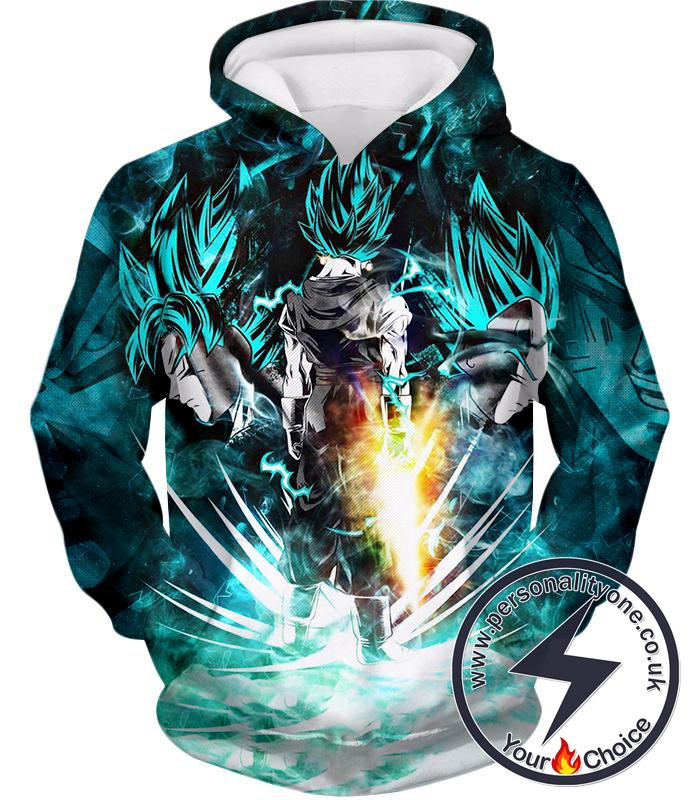 Dragon Ball Super Super Cool Fusion Goku X Vegita Vegito Super Saiyan Blue Awesome Graphic Hoodie