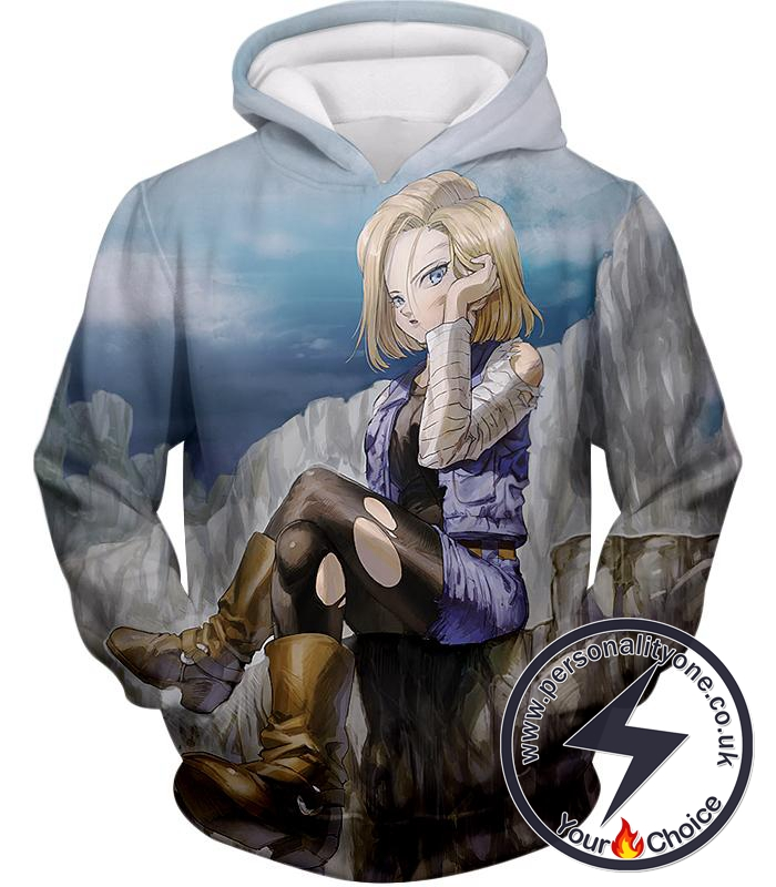 Dragon Ball Super Super Cute Android 18 Awesome Anime Graphic Hoodie