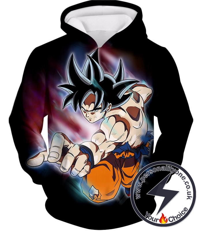 Dragon Ball Super Ultimate Form Goku Ultra Instinct Cool Action Black Hoodie