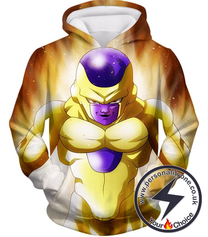 Dragon Ball Super Ultimate Form Golden Frieza Cool Promo Anime Hoodie