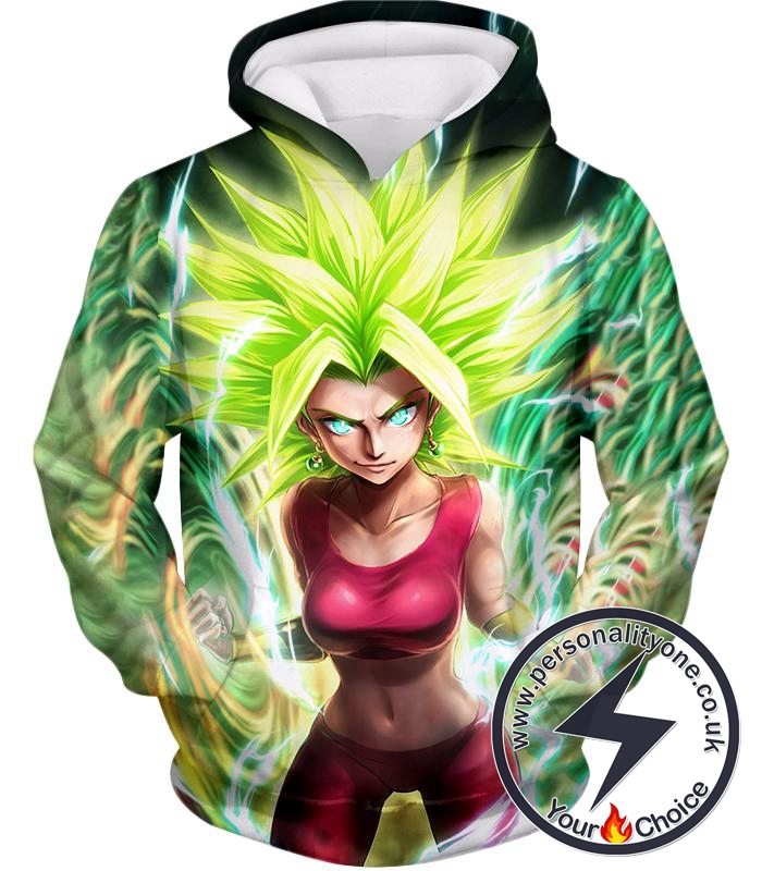 Dragon Ball Super Very Cool Female Legendary Super Saiyan Kale Awesome Anime Graphic Hoodie