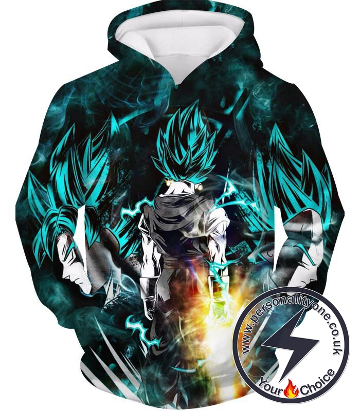 Dragon Ball Z Hoodie - Emerald Black Goku And Vegata