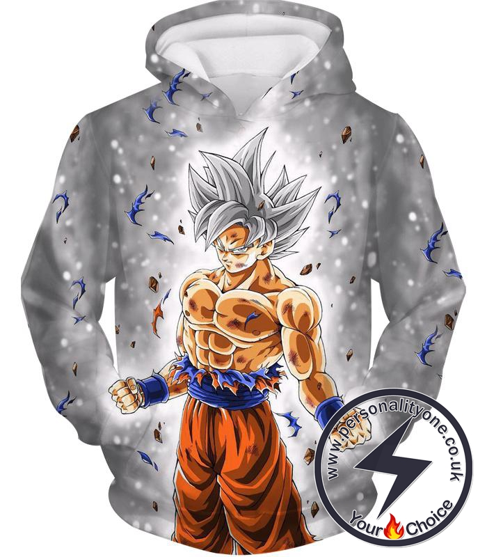 Dragon Ball Z Hoodie - Silver Mastered Ultra Instinct Goku