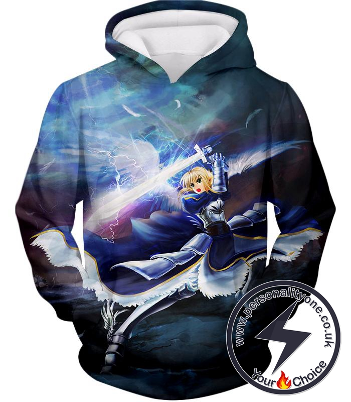 Fate Stay Night King Arthur Noble Phantasm Action Hoodie