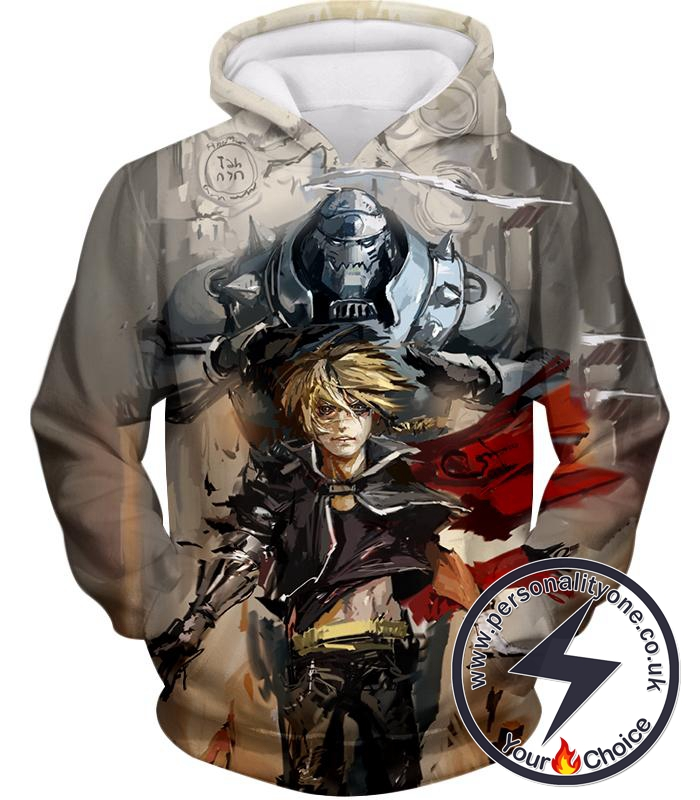 Fullmetal Alchemist Amazing Elrich Brothers Edward x Alphonse Awesome Anime Art Hoodie