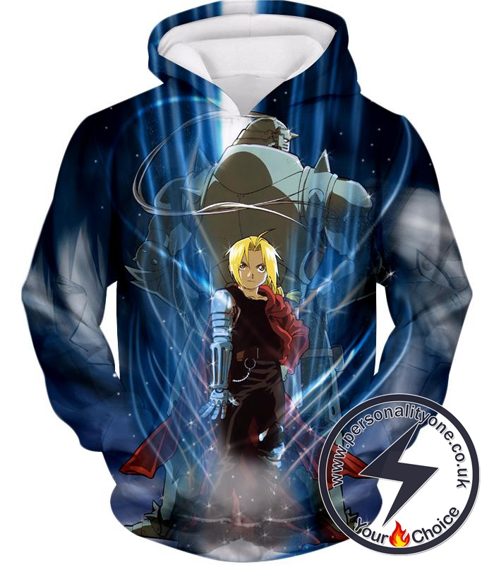 Fullmetal Alchemist Brothers Together Edward x Alphonse Ultimate Anime Action Hoodie