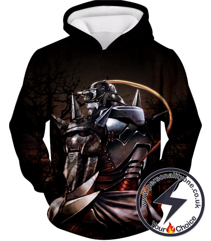 Fullmetal Alchemist Trapped in an Armour Cool Hero Alphonse Elrich Amazing Anime Graphic Hoodie