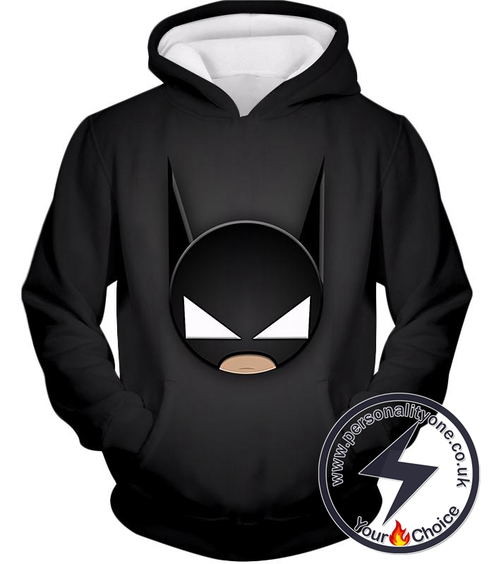 Funny Batman Animated Mask Cool Black Hoodie