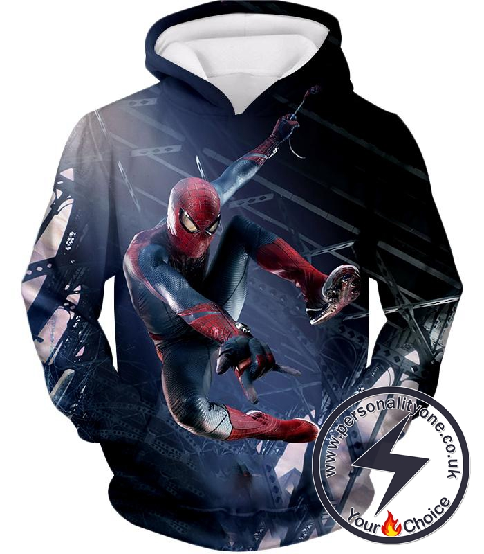 High Definition Spiderman Cool Action Hoodie