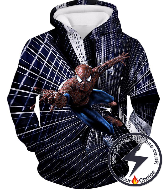 Marvels Amazing Spiderman Action Hero Hoodie