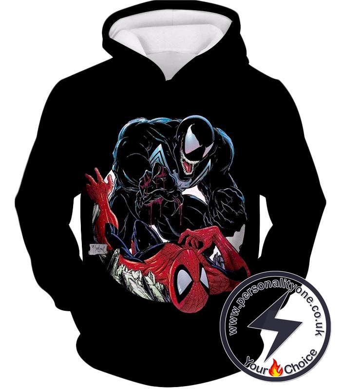 Marvels Venom Vs Spider-Man Black Hoodie