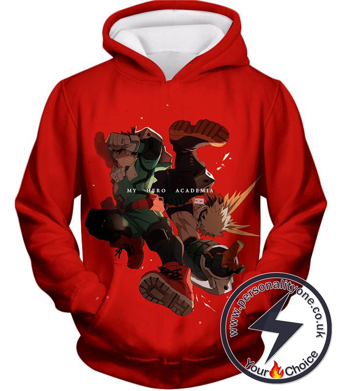 My Hero Academia Izuki and Bakugo My Hero Academia Promo Hoodie