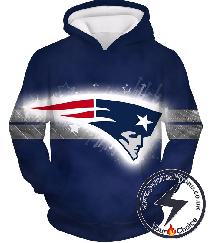 New England Patriots Symbol Logo Hoodie - Fashion 3D Hoodies And Clothing