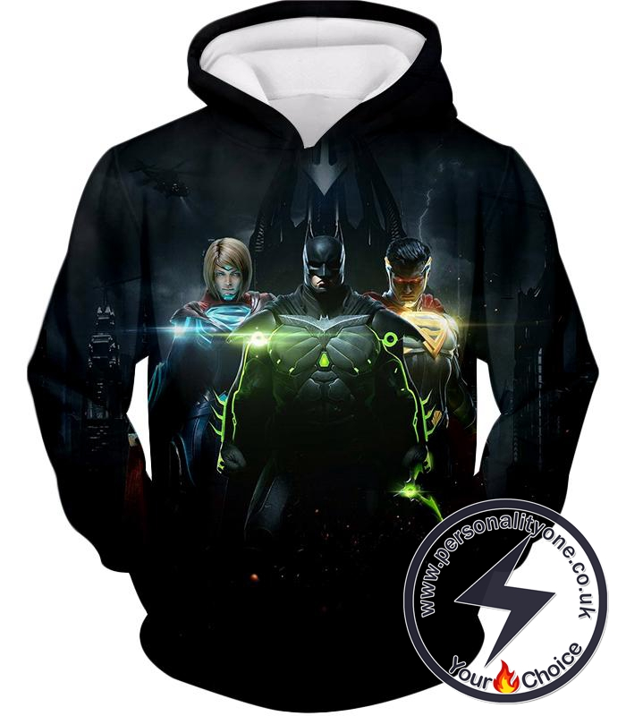 Next Generation Ultimate DC Heroes HD Graphic Black Hoodie