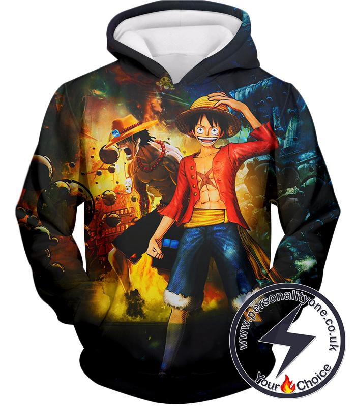 One Piece Awesome Brothers Luffy and Ace Best Bond Cool Hoodie