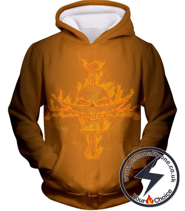 One Piece Legendary Pirate Whitebeard Pirate Crew Logo Cool Yellow Hoodie