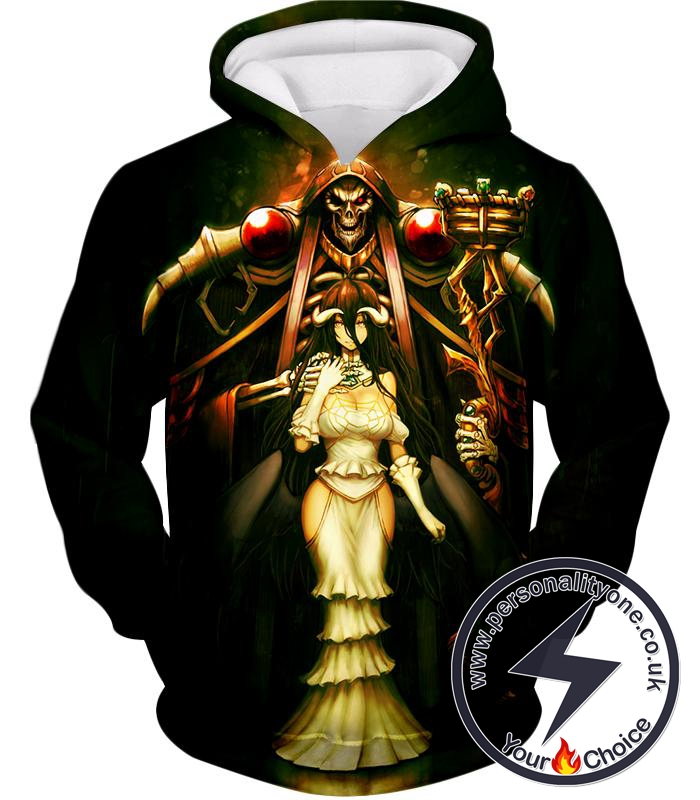 Overlord Sorcerer King Ainz Ooal Gown and White Devil Albedo Cool Anime Promo Hoodie