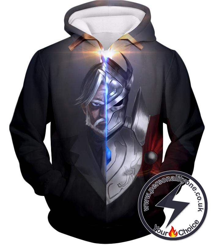 Overlord The Iron Butler and Touch Me Super Cool Anime Black Hoodie