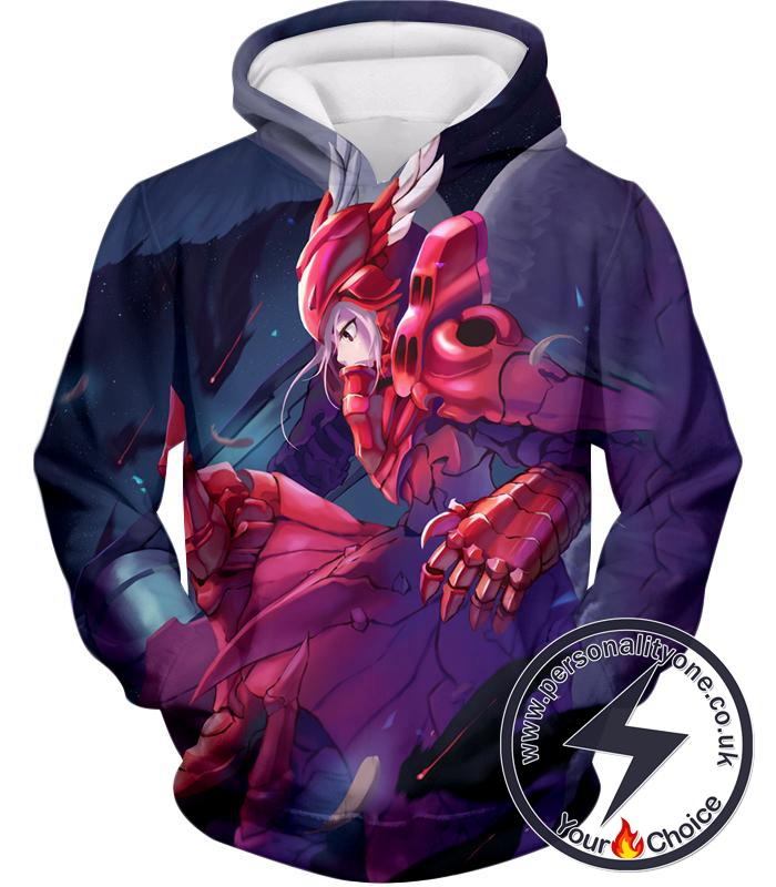 Overlord True Vampire Shalltear Bloodfallen Awesome Red Armor Anime Action Hoodie