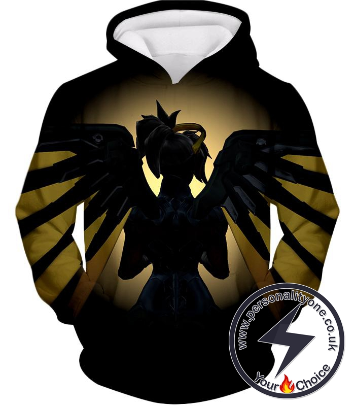 Overwatch Awesome Flying Overwatch Agent Healer Mercy Hoodie