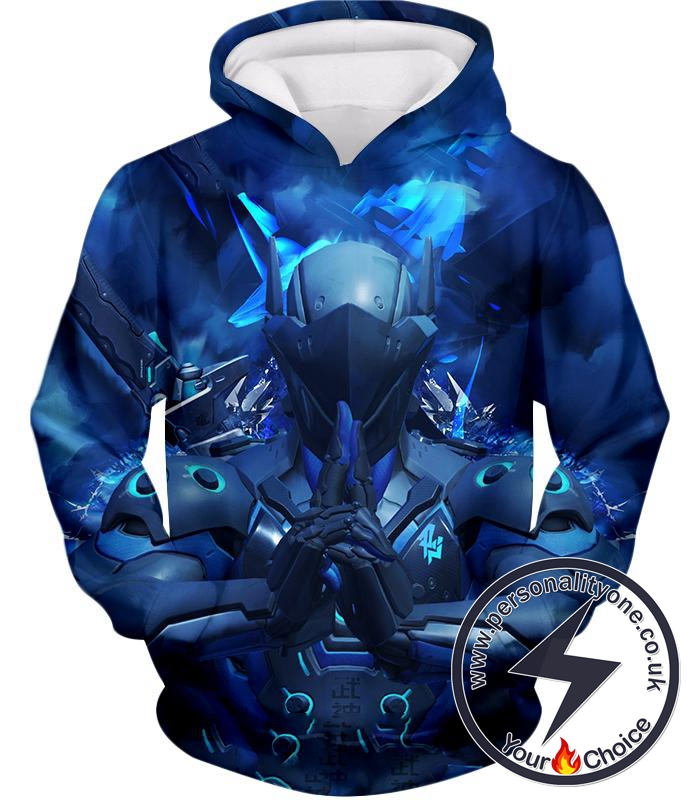 Overwatch Coolest Fighter Cyborg Genji Hoodie