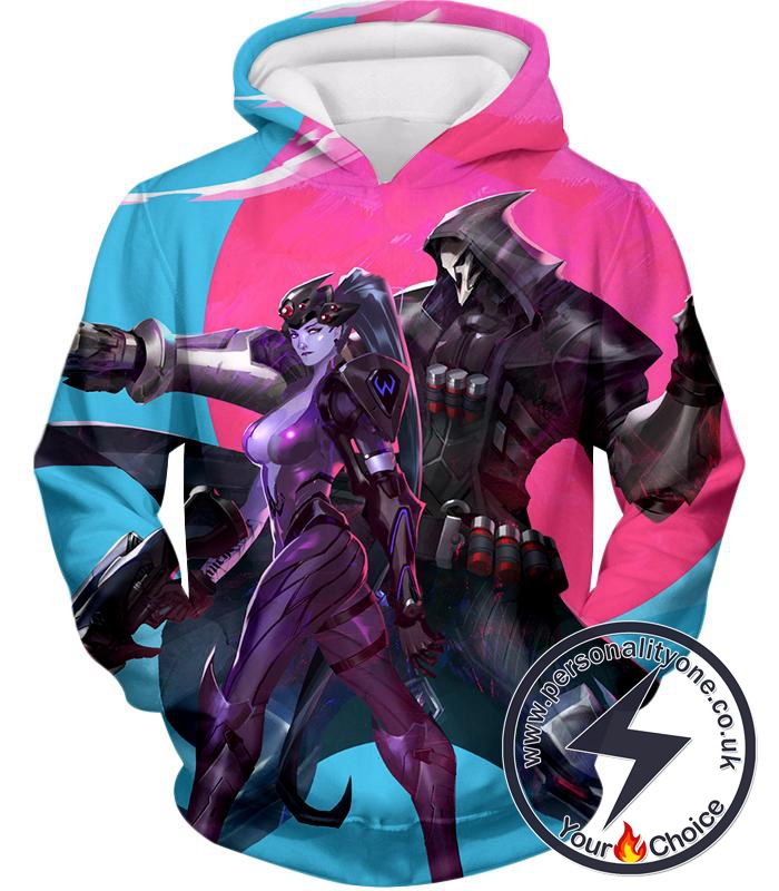 Overwatch Talon Affiliated Fighters Reaper and Widowmaker Hoodie