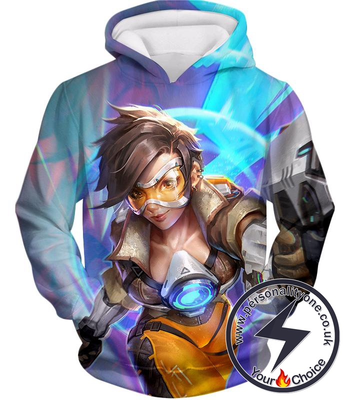 Overwatch Time Travelling Hero Tracer Hoodie