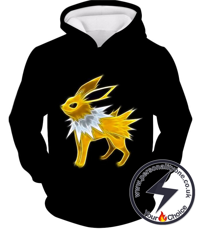 Pokemon Amazing Eevee Thunder Type Evolution Jolteon Awesome Black Hoodie