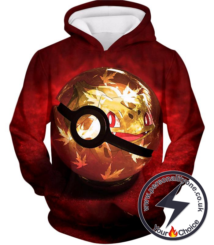 Pokemon Amazing Grass Pokemon Bulbasaur Pokeball Cool Red Hoodie