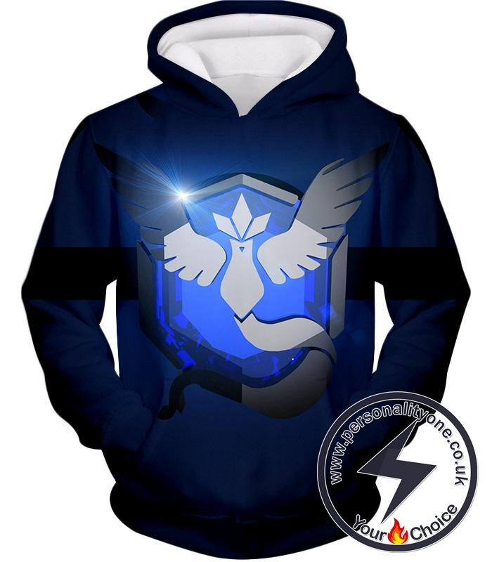 Pokemon Articuno Mystic Legendary Pokemon Logo Amazing Black Hoodie