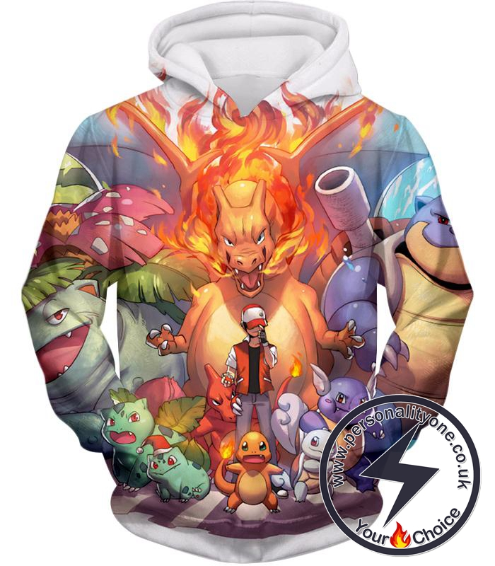 Pokemon Ash Ketchum All Cool First Generation Pokemons Awesome Hoodie