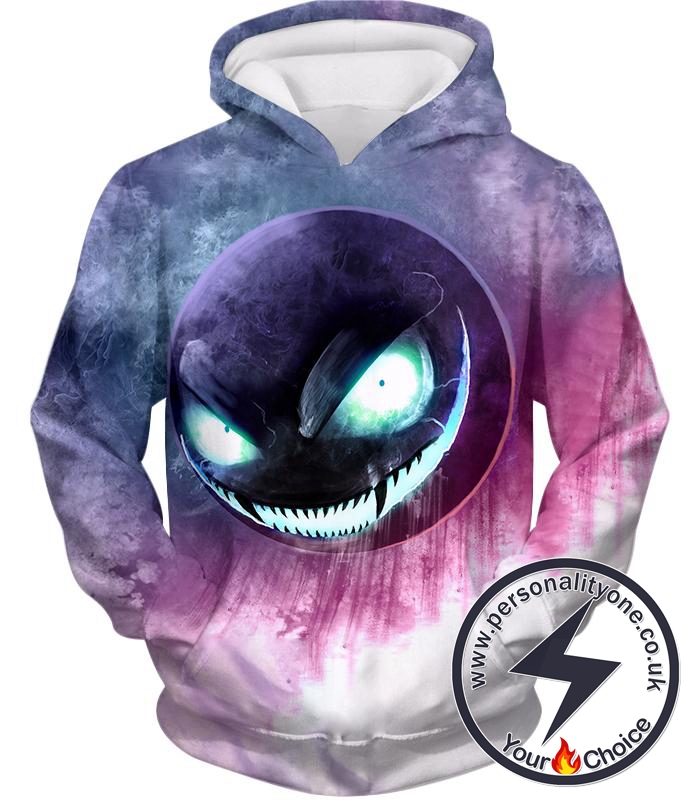 Pokemon Awesome Ghost Pokemon Ghastly Ultimate HD Graphic Anime Hoodie