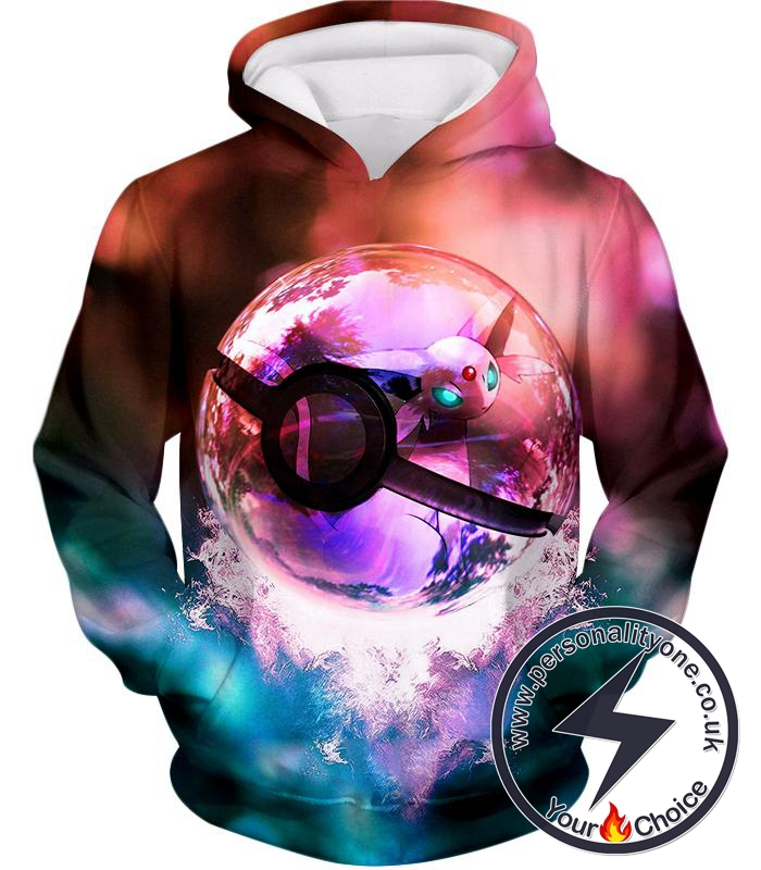 Pokemon Mystic Pokemon Mew Pokeball Amazing Colourful Hoodie