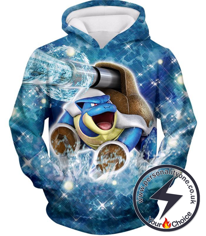 Pokemon Powerful Water Type Pokemon Blastoise Awesome Action Hoodie