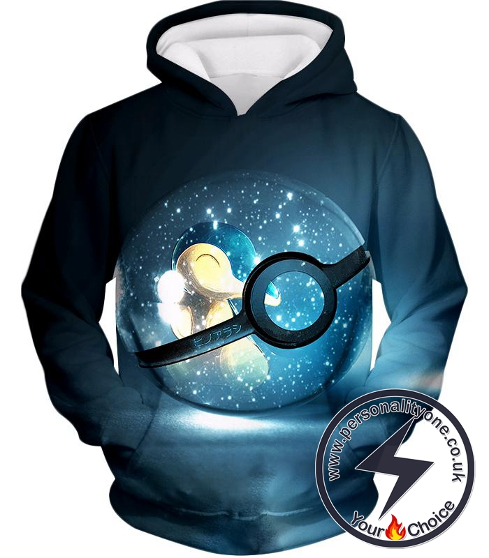 Pokemon Super Cute Fire Pokemon Cyndaquil Pokeball Cool Black Hoodie