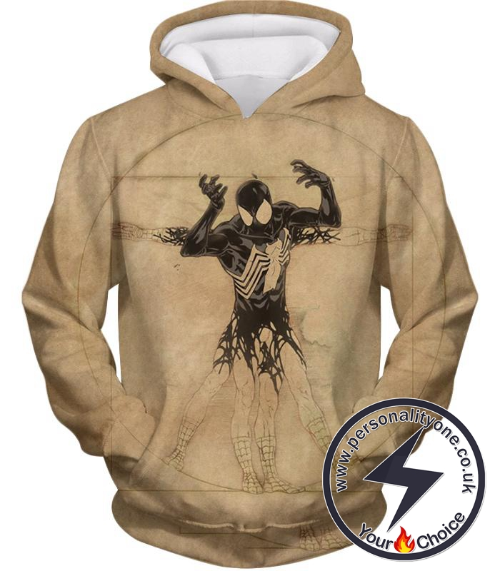 Spiderman Symbiote Bond Cool Brown Hoodie