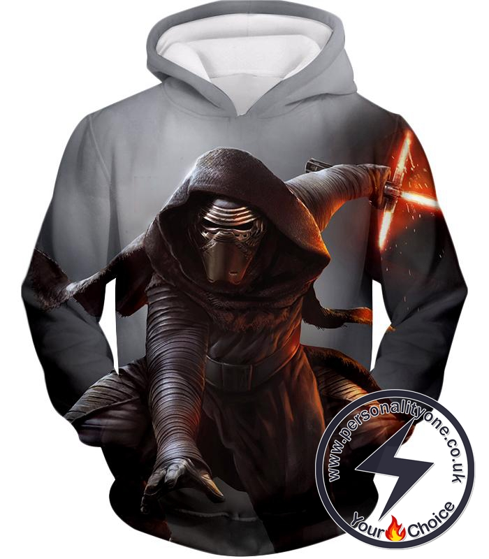 Star Wars Amazing Star Wars Action Villain Kylo Ren Cool Black Hoodie