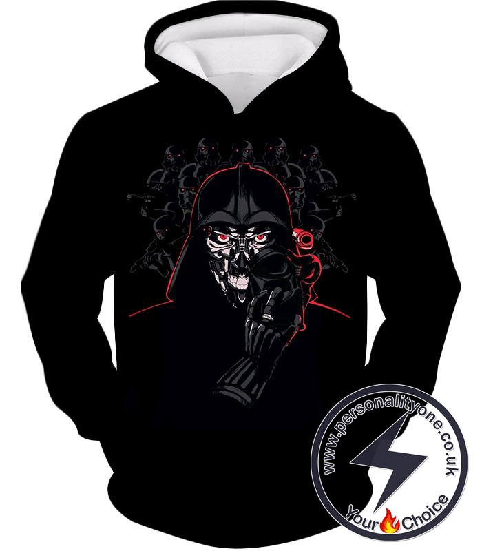 Star Wars Darth Vader the Deadly Sith Lord Awesome Animation Cool Black Hoodie