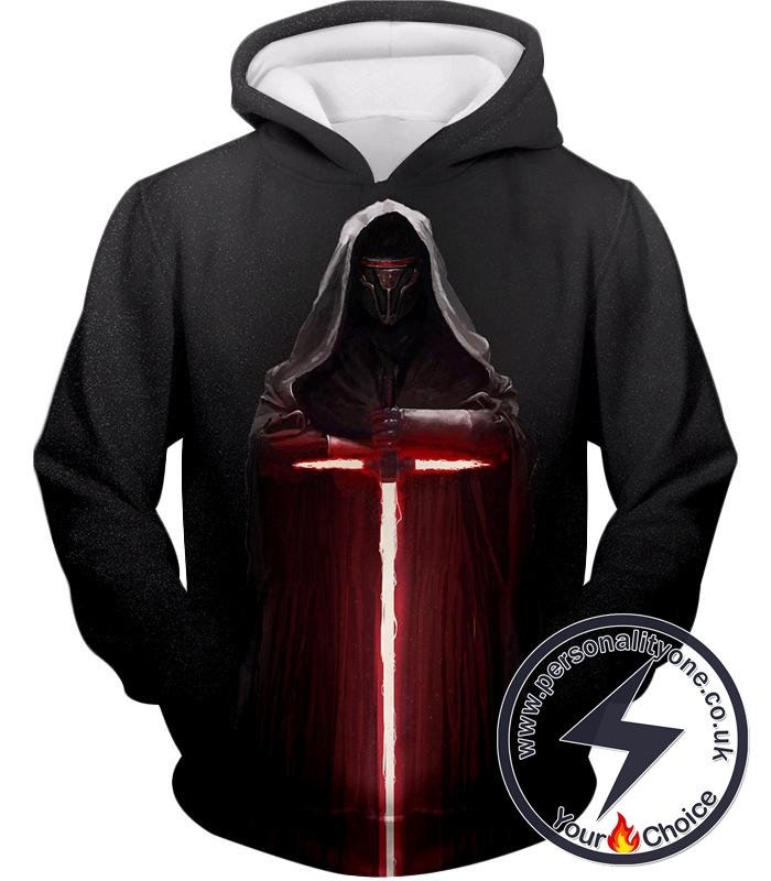 Star Wars Extremely Powerful Sith Lord Kylo Jen Cool Black Hoodie