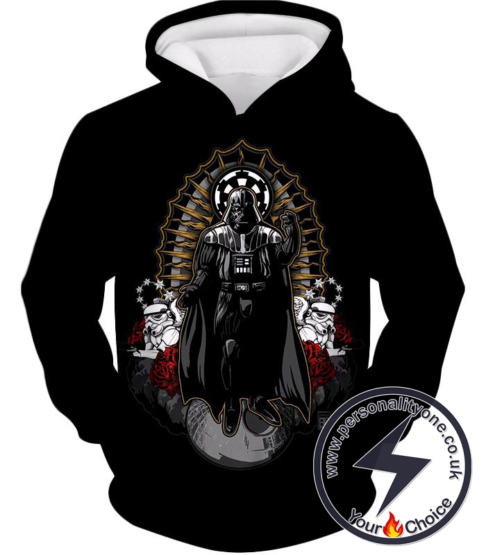 Star Wars Leader of the Galactic Empire Darth Vader Cool Animated Black Hoodie