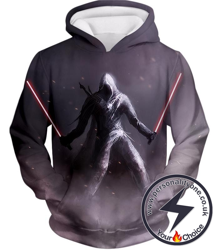Star Wars Lord of Darkness Darth Shadow Awesome Action Grey Hoodie