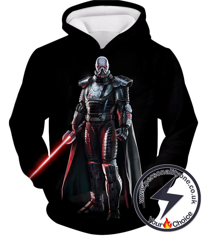 Star Wars Powerful Sith Lord Darth Malak Cool Action Black Hoodie