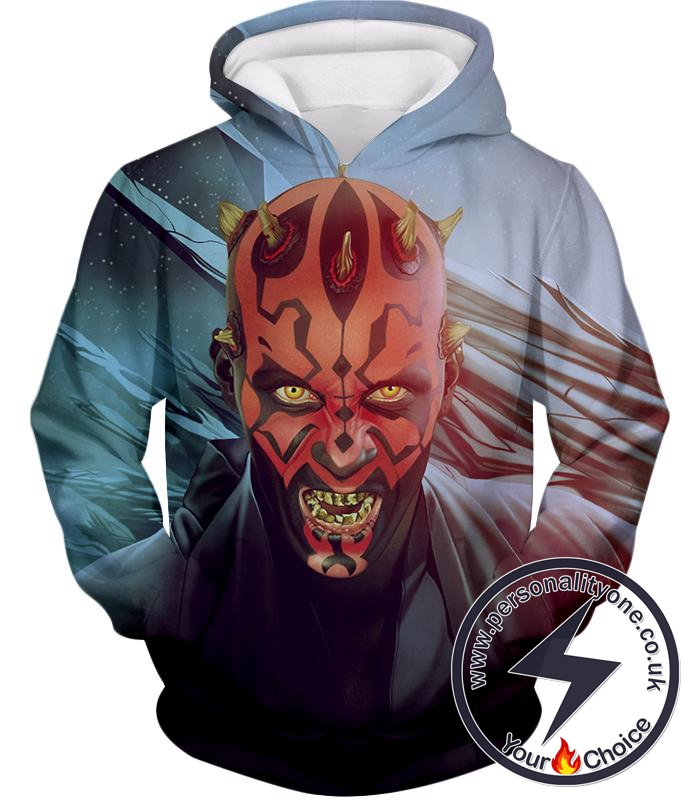 Star Wars Scary Sith Lord Darth Maul Animated Graphic Action Hoodie