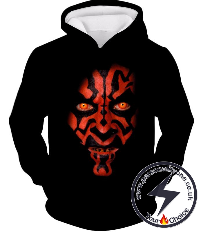 Star Wars Scary and Deadly Sith Lord Darth Maul Cool Promo Black Hoodie
