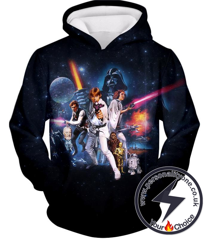 Star Wars Super Cool Star Wars Movie Poster Promo Awesome Black Hoodie